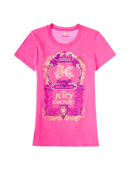 JUICY COUTURE WOMEN JUICY CREST LOGO Opal Pink