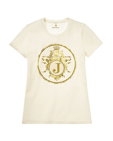 JUICY COUTURE WOMEN JC EMBLEM LOGO TEE Angel