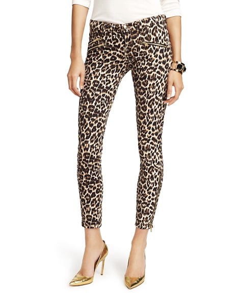 JUICY COUTURE JEAN WOMEN LEOPARD SKINNY Leopard Denim