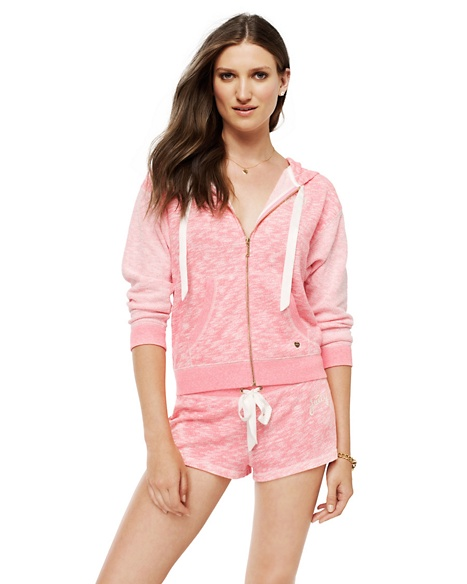 JUICY COUTURE SHORT WOMEN MARLED FRENCH TERRY Marled Geranium