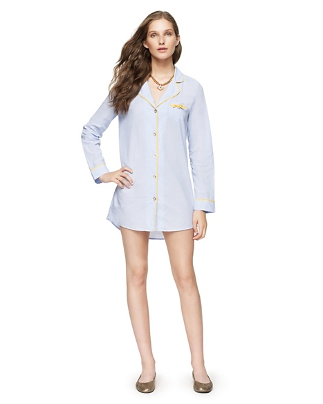 JUICY COUTURE NIGHTSHIRT WOMEN CHAMBRAY Forget Me Not Blue