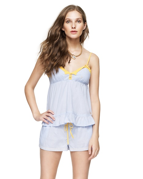 JUICY COUTURE WOMEN CHAMBRAY CAMI Forget Me Not Blue