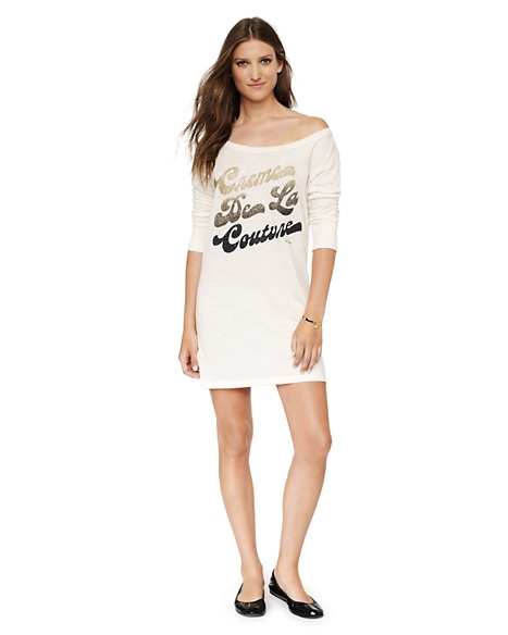 JUICY COUTURE NIGHTIE WOMEN GRAPHIC Ivory