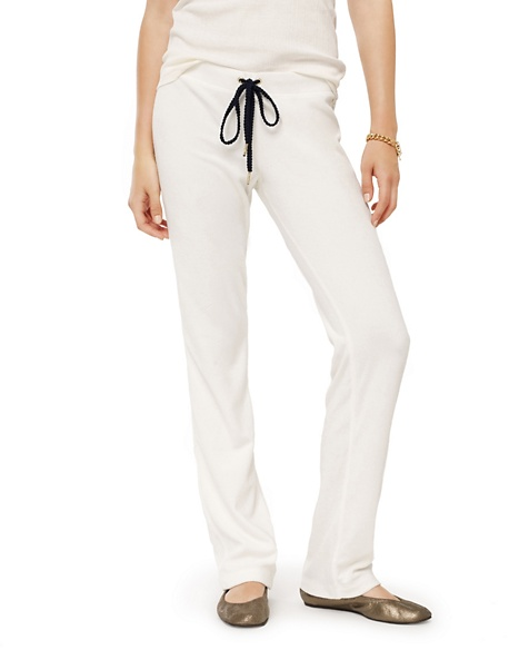 JUICY COUTURE PANT WOMEN COLLEGIATE TERRY Angel