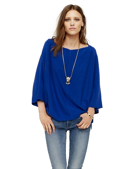 JUICY COUTURE WOMEN CASHMERE PONCHO Avery