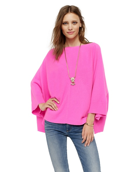 JUICY COUTURE WOMEN CASHMERE PONCHO Mademoiselle