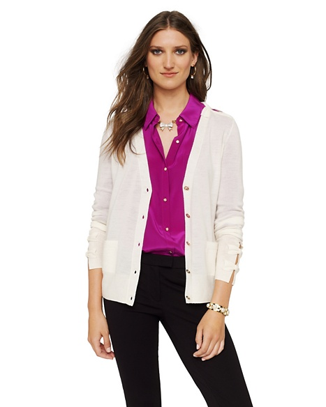 JUICY COUTURE CARDIGAN WOMEN MERINO BOW Angel