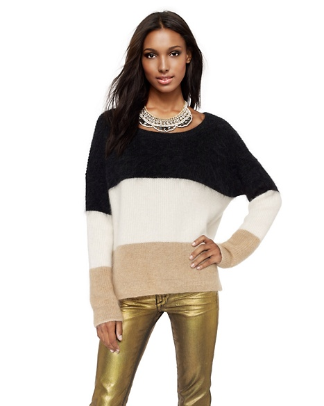 JUICY COUTURE PULLOVER WOMEN MULTI-STRIPE Melange Black