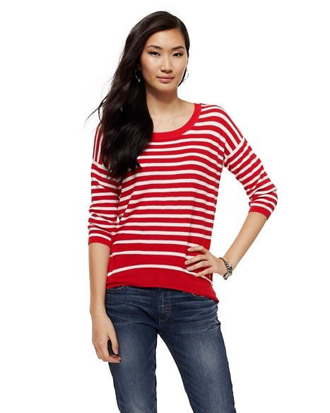 JUICY COUTURE SWEATER WOMEN NAUTICAL STRIPE Fire
