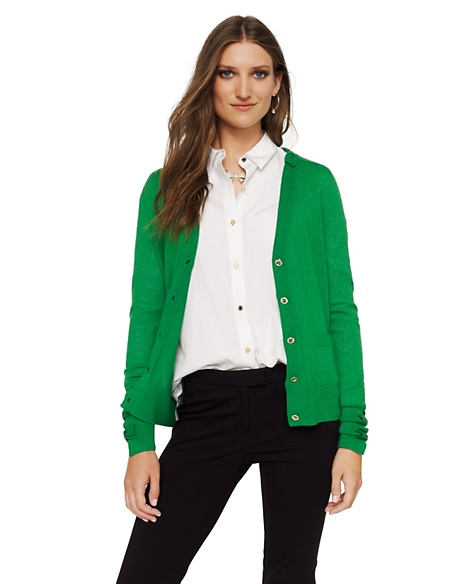 JUICY COUTURE CARDIGAN WOMEN MERINO BOW Pepper