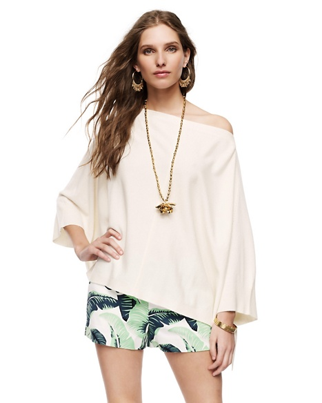 JUICY COUTURE WOMEN CASHMERE PONCHO Angel