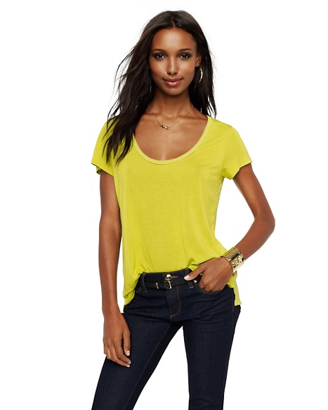 JUICY COUTURE WOMEN CONTRAST BACK TEE Sharp Lime