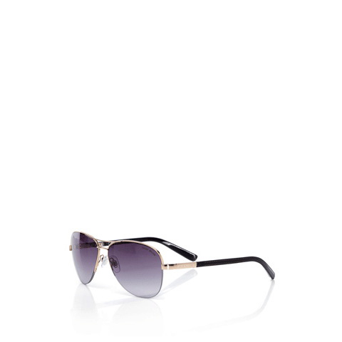KAREN MILLEN HALF RIM TEAR-DROP SUNGLASSES