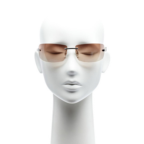 KAREN MILLEN RIMLESS SQUARE SUNGLASSES