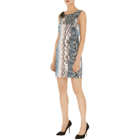 KAREN MILLEN BEADED PYTHON PRINT DRESS