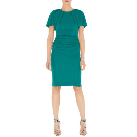KAREN MILLEN BIG SLEEVE JERSEY DRESS