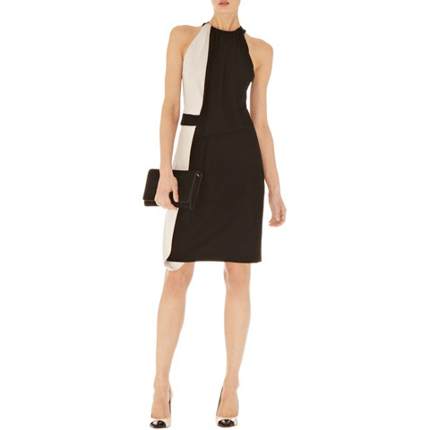 KAREN MILLEN DRAPED JERSEY DRESS