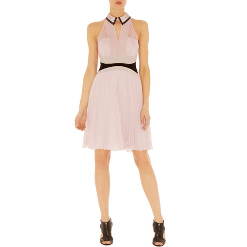 KAREN MILLEN STRICT PLEAT DRESS