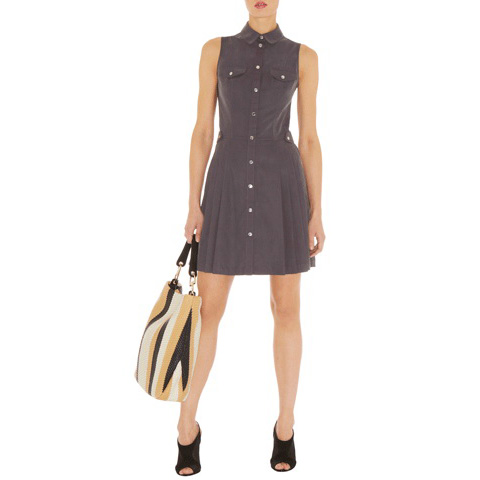 KAREN MILLEN SOFT SAFARI DRESS