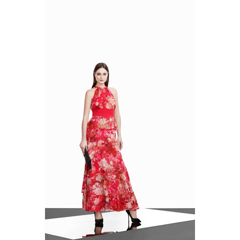KAREN MILLEN INCREDIBLE FLORAL PRINT DRESS