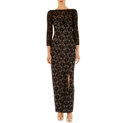 KAREN MILLEN LACE MAXI DRESS