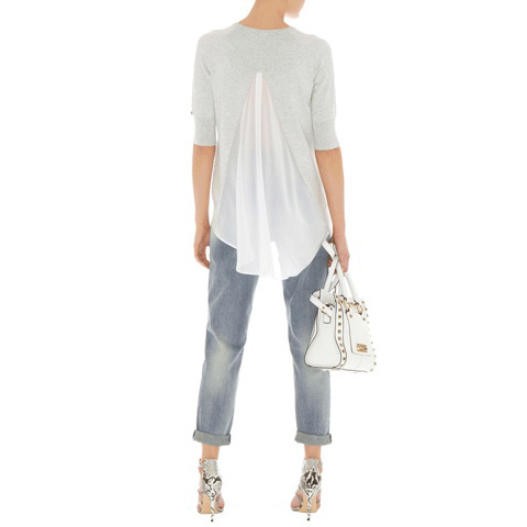 KAREN MILLEN RIPPED AND FRAYED JEANS