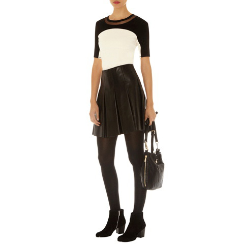 KAREN MILLEN LEATHER COLLECTION SKIRT