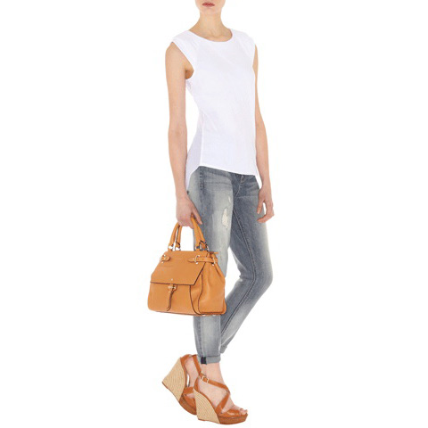 KAREN MILLEN GEORGETTE BACK T-SHIRT