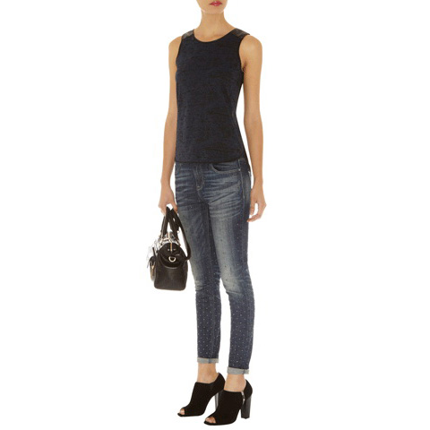 KAREN MILLEN BURN OUT JERSEY VEST