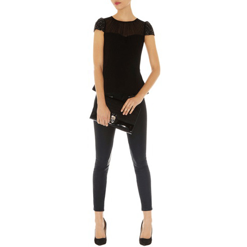 KAREN MILLEN BEAD SLEEVE TOP