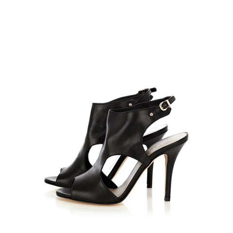 KAREN MILLEN UNLINED LEATHER SHOEBOOT SANDALS