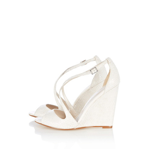 KAREN MILLEN ULTIMATE WHITE FASHION WEDGE