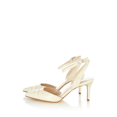KAREN MILLEN ULTIMATE WHITE KITTEN HEEL