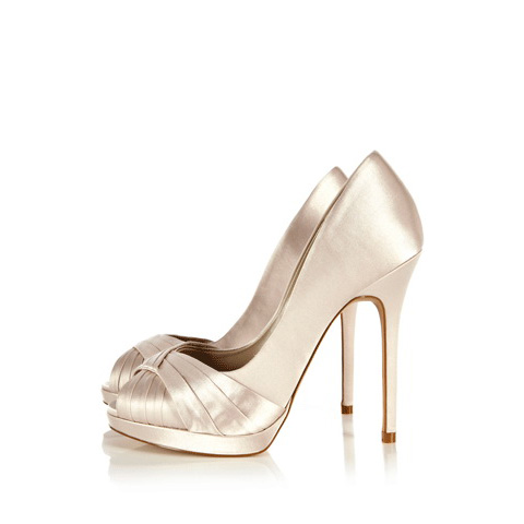 KAREN MILLEN PLEATED SATIN PEEP