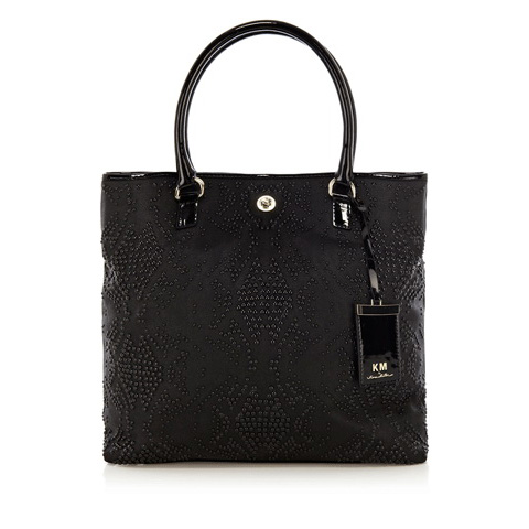 KM BY KAREN MILLEN STUDDED LARGE TOTE