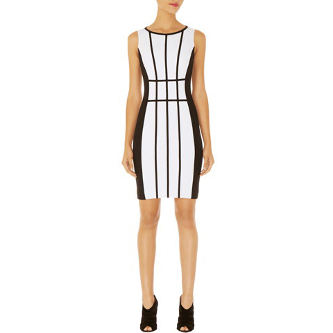 KAREN MILLEN SCUBA COLOURBLOCK DRESS