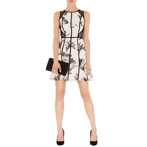 KAREN MILLEN SOFT FLORAL PRINT DRESS
