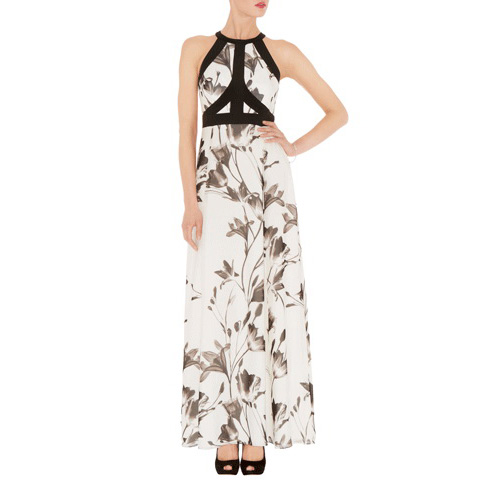 KAREN MILLEN SOFT PRINTED MAXI DRESS