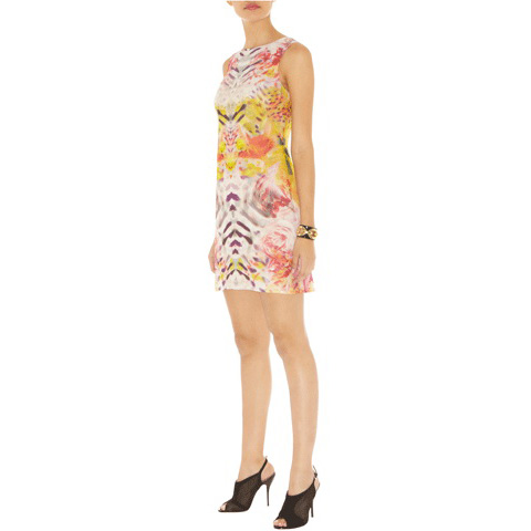 KAREN MILLEN TROPICAL PRINT DRESS
