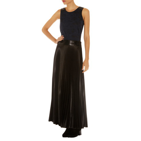KAREN MILLEN LONG PLEATED SKIRT