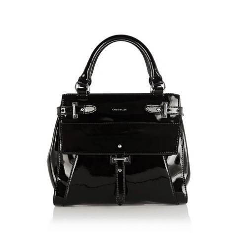 KAREN MILLEN LEATHER SMALL TOTE