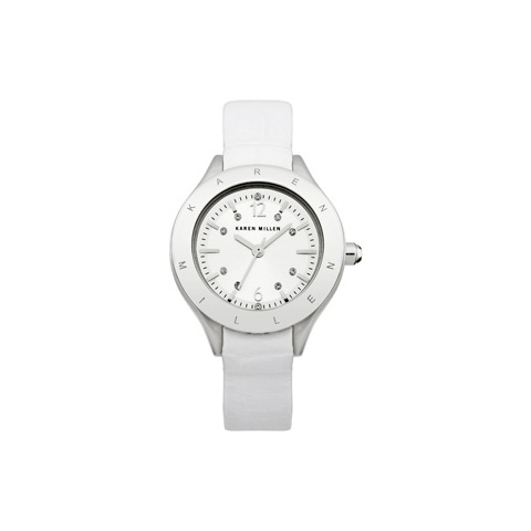 KAREN MILLEN CLASSIC LEATHER STRAP WATCH