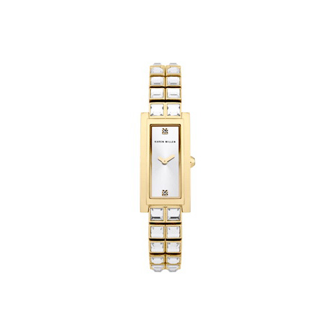 KAREN MILLEN GOLD RECTANGLE WATCH