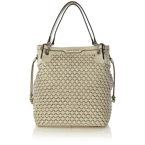 KAREN MILLEN LEATHER CUTWORK SLING