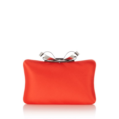 KAREN MILLEN METAL BOW CLUTCH