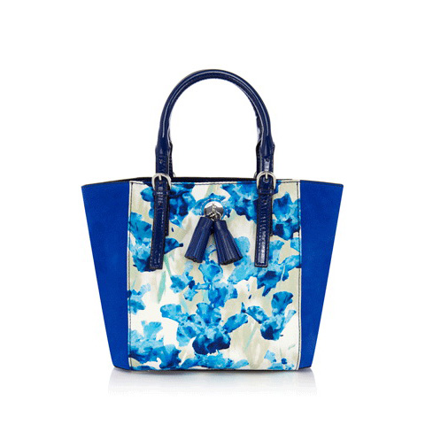 KAREN MILLEN ALL OVER IRIS PRINT MINI BAG