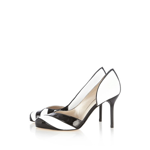 KAREN MILLEN BLACK & WHITE STRIPE COURT
