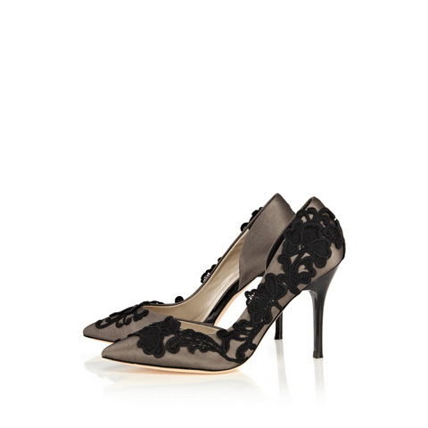 KAREN MILLEN 3D EMBROIDERY COURT SHOE