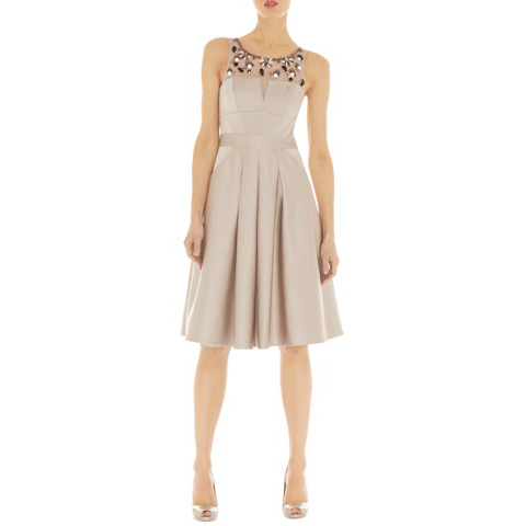 KAREN MILLEN GEOMETRIC BEADING DRESS