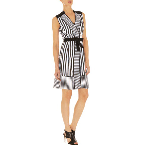 KAREN MILLEN STRIPEY SHIRT DRESS